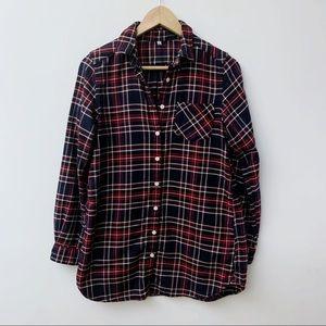 Muji Organic Plaid Flannel Shirt